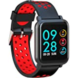 AQFIT Multifunction Smart Watch W8  Red Black