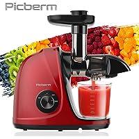 Extracteur de Jus,Picberm Extracteur à Jus de Fruits et Légumes avec 2 Vitesses,Slow Jucier sans BPA avec Moteur…