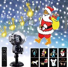 LED Schneefall Projektor Licht Animation Projektionslampe Außen Wasserdicht Weihnachtsbeleuchtung Innen Dekoration Halloween Beleuchtung