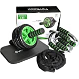 GyMBOPRO 4-in-1 AB Roller Buiktrainer, voor fitness, buikspiertraining, spieropbouw, buikroller voor vrouwen en mannen