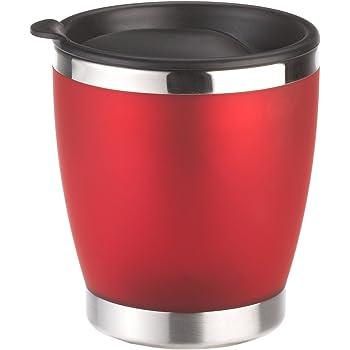 Emsa 504843 Isolier-Trinkbecher, Mobil genießen, 180 ml, Transluzent, Rot, City Cup