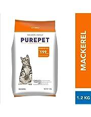 Purepet Adult(+1 Year) Dry Cat Food, Mackerel, 1.2kg