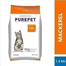 Purepet Mackerel Adult Cat Food, 1.2 kg
