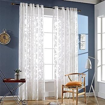 Ricamati tende per camera da letto della tenda di finestra - La finestra della camera da letto ...