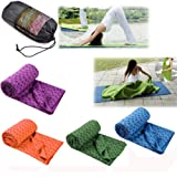 Yogacke deken sport slipvast strandkleed picknick yoga mat strand 180x60cm (oranje)