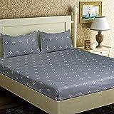 LeeFab India Cotton 140 TC Bedsheet (Multicolour_Double)