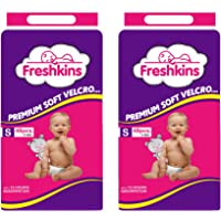 Freshkins Taped Diaper Small (Pack of 2, 96 Unit)