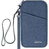 Arvok Reisepass Tasche Reisepasshülle RFID-Blocker Schutzhülle, Familien Reise Brieftasche Wasserabweisende Pass Hülle…