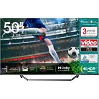 Hisense 50U7QF QLED 126cm (50 Zoll) Fernseher (4K ULED HDR Smart TV, HDR 10+, Dolby Vision & Atmos, Full Array Local…