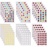 THETAG Gommettes Etoiles, 4240 PCS Autocollants Gommettes Auto-adhésif Autocollant en Étoiles Stickers Colorés pour Enfants M