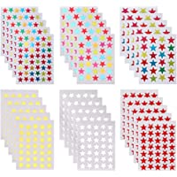 THETAG Gommettes Etoiles, 4240 PCS Autocollants Gommettes Auto-adhésif Autocollant en Étoiles Stickers Colorés pour…