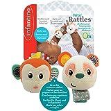 Infantino wrist rattles - monkey/panda