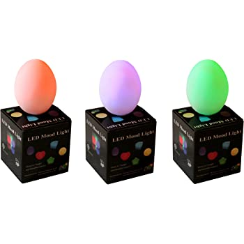 PK Green 3 Mood Lamps with Colour Changing LED - Battery Egg Mood Lighting for Bedroom, Party, Wedding Decoration by