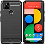 MOONCASE Case for Google Pixel 5, Ultra-Thin Soft Lightweight TPU Protection Case Carbon Fiber Design Back Cover for Google P