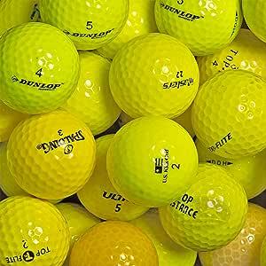 Palline da Golf Mix Gialle 100 Palline da Golf usate AAA e Pearl
