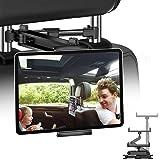 JPARR Soporte Tablet Coche,Soporte Reposacabezas Automóvil Telescópico Universal,Soporte de Coche Que Puede Giratorio 360 °,C