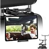JPARR Car Tablet Holder,Universal Telescopic Car Headrest Holder,360° Rotating Car Seat Mount for 4~11' Smartphone…