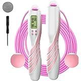 iMoebel Springtouw digitale teller verstelbaar - Speed Rope touwspringen met stalen touw anti-slip zware ergonomische handgre