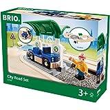 Holzspielzeug 33208 Brio Schiene und Straßen Kran Set