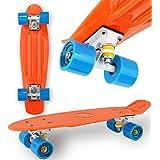 "WeLLIFE Skateboard Mini Cruiser RGX 22"" Skate Completo per Bambini Ragazzi Adulti e Principianti Ruote in PU 78A Tavola Rinfo"