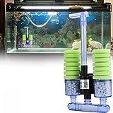 Despacito Aquarium Filter Sponge, Double Sponge Filters for Aquarium, Biochemical Sponge Filter, Sponge Filter Aquarium with