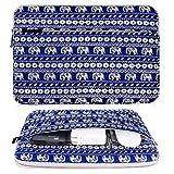 Bovke 11–38,1cm Housse en néoprène/sac/unité centrale d'ordinateur portable sacoche sac de transport/ultrabook Coque sacoche pour ordinateur portable/Housse Coque 13-13.3 Inches Motif éléphant Bleu