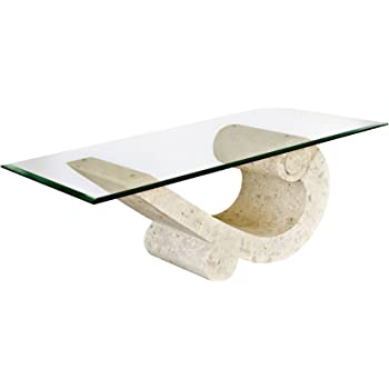 Stone Base Coffee Table.Sea Crest Coffee Table With Fine Mactan Stone Base And Tempered Glass Top
