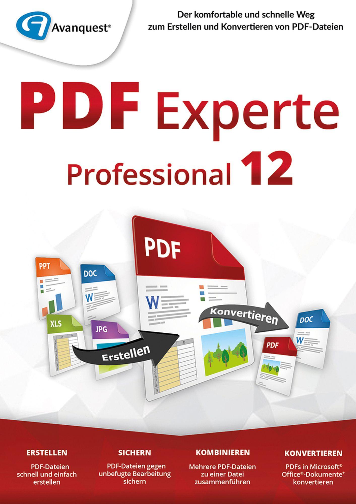 PDF Experte 12 Professional - Erstellen und Konvertieren von PDF-Dateien! Windows 10|8|7 [Online Code]