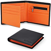 TEEHON® Wallets Mens Slim Genuine Leather RFID Blocking Wallet Mens with 11 Card Holder, 2 banknote compartments, Coin…