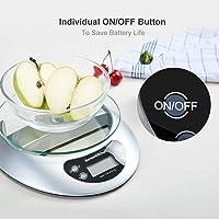 Bonsenkitchen Balance de Cuisine Numérique Balance Alimentaire Électronique de Haute Précision avec Fonction de Tare…