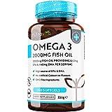 Omega 3 Visolie 2000mg met 660mg EPA & 440mg DHA per Portie - 240 Capsules met Hoge Dosis Pure Visolie - DHA en EPA voor norm