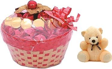 Skylofts Lovely Chocolate Basket With A Cute Teddy Bear (25Pc Chocolates)