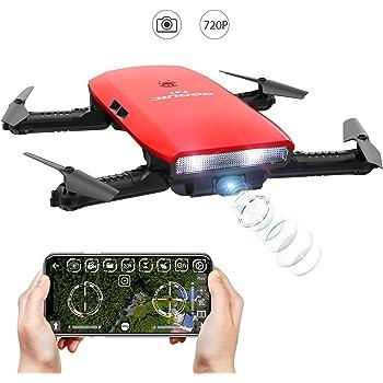 Drone Droni con Macchina Fotografica-GoolRC T47 Drion di Controllo Motionalmente Pieghevole FPV Drone con Fotocamera 720P e 1 Batteria Supplementare