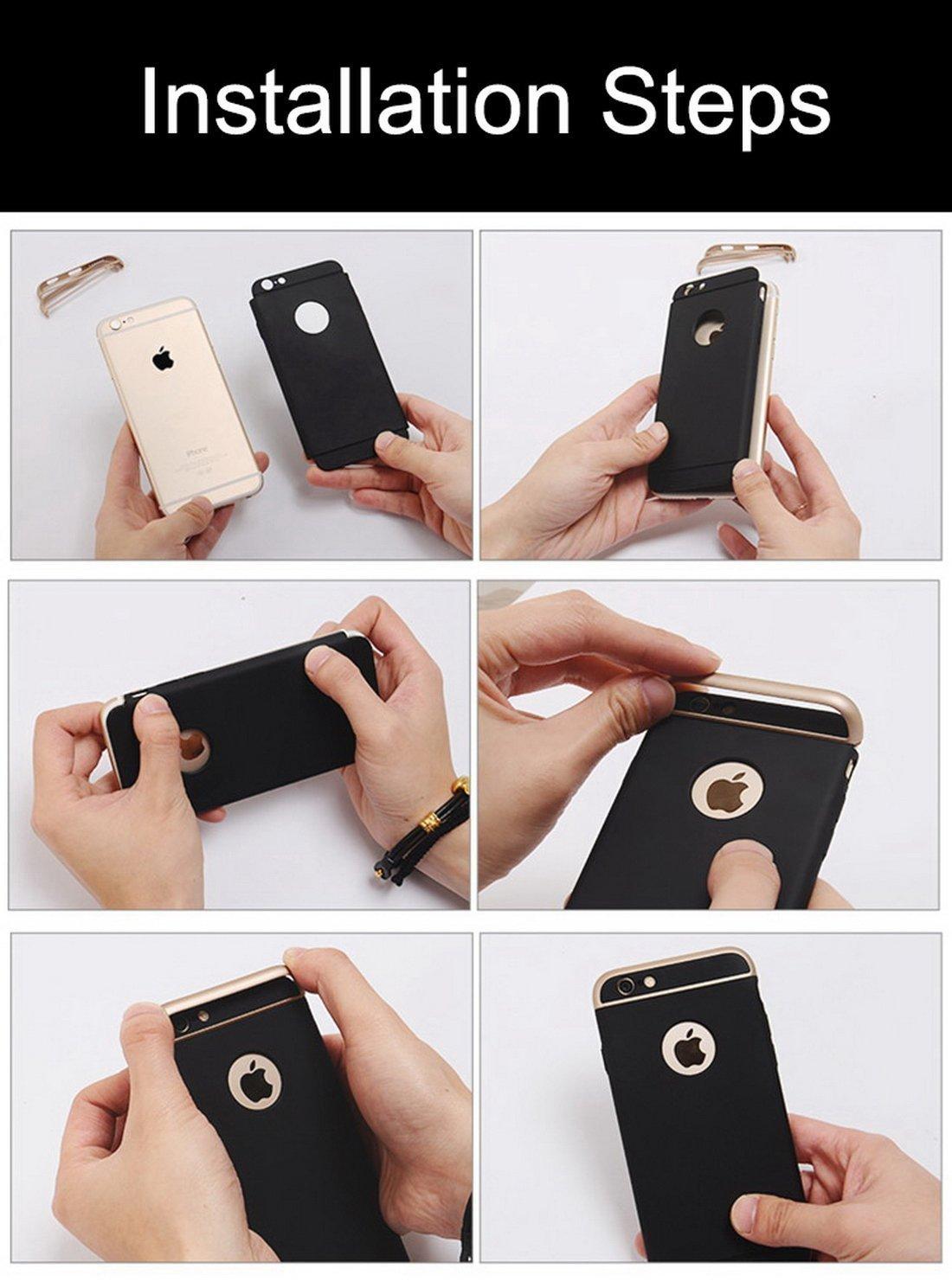 Caler-iPhone-6-6s-Hlle-mit-Ring-Stnder-Hoch-Qualitt-Stofest-Hart-PC-Ultra-Slim-abziehbar-Ringhalter-Anti-Scratch-Schutz-Kratzfest-Schutzhlle-Case-fr-iPhone-6s6