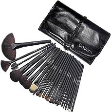 Pennelli Make Up,Cadrim 24 Set di pennelli professionali per trucco trucchi,pennelli trucco con borsa (24 Nero)