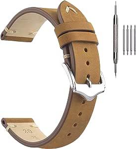 Cinturini per Orologi in Pelle, Cinturini in Vera Pelle EACHE Autentici Cinturini per Orologi Vintage Uomo Donna 18mm 19mm 20mm 22mm