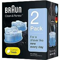 Braun Clean & Renew Ersatzkartuschen für elektrische Rasierer, 2er-Pack, kompatibel mit allen Braun SmartCare und Clean…