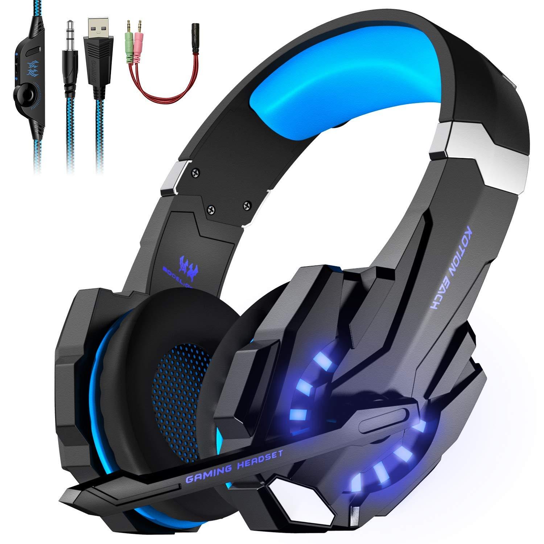 Tsing G9000 écouteur Casque Gaming jeu vidéo Filaire avec micro Basse Stéréo LED Lumière Contrôle du Volume PC Téléphones Mobiles Le Plus Nouveau Modèle