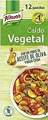 Knorr Caldo Vegetal en Pastillas, -30% de Sal sin Conservantes Ni Colorantes, 12 Pastillas
