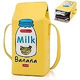 XiYee Kleine Crossbody Tasche, Mädchen PU Leder Geldbörse, Milch Box Brieftasche Tasche kleine Crossbody Persönlichkeit Mini