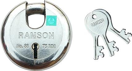 RAMSON Round Lock 7 Levers Steel Lock with 3 Keys (75mm_148)