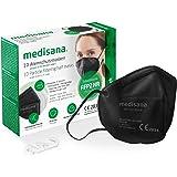 Medisana FFP2 ademmasker zwart/zwart stofmasker ademmasker RM 100, stofmasker mondmasker 10 stuks afzonderlijk verpakt in PE-