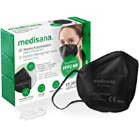 medisana FFP2 Atemschutzmaske Schwarz/Black Staubmaske Atemmaske RM 100, Staubschutzmaske Mundschutzmaske 10 Stück…