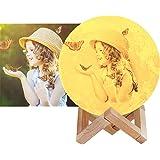 16 color Foto personalizzata Lampada Luna 3D Stampata, Piena Lampada Moon Luna con Diametro Ricarica USB Decorativo LED Luce