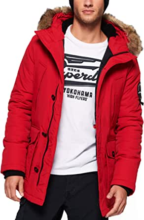 Superdry Men's Everest Winter Parka Fur Hooded Padded Jacket