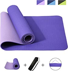 Slimerence Gymnastikmatte, Rutschfest Yogamatte Dünn Fitness Matte mit Tasche und Tragegurt, Ideal für Yoga, Gymnasitk,Training, Pilates und Fitness