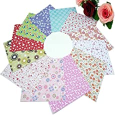 Fancyku Origami Paper for Arts and Crafts (Floral - 14.5 x 14.5 cm - 70 Sheets)