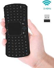 Wireless Mini Tastatur, Jelly Comb 2.4G Kabellose Tragbare Handheld Multimedia Tastatur Deutsches Tastaturlayout (QWERTZ Layout) für Smart TV Box, Smart TV, Mini PC, PC, Tablets und Smartphones