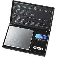 AMIR Balance de Precision, 100g/0.01g, Balance de Poche, Balances de Bijoux de Precision, A Ecran LCD Tactile, Fonction de Tarage (Noir)
