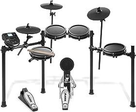 Alesis Drums Nitro Mesh Kit, Batteria Elettronica con Pelli Mesh, 8 Pad, Rack in Alluminio Resistente, 385 Suoni, 60 Tracce di Accompagnamento, Cavi di Collegamento, Bacchette e Chiavi di Accordatura